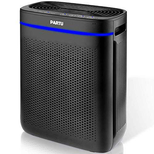 PARTU HEPA Air Purifier for Home, Large Room Up to 215ft² Smoke Air Purifier