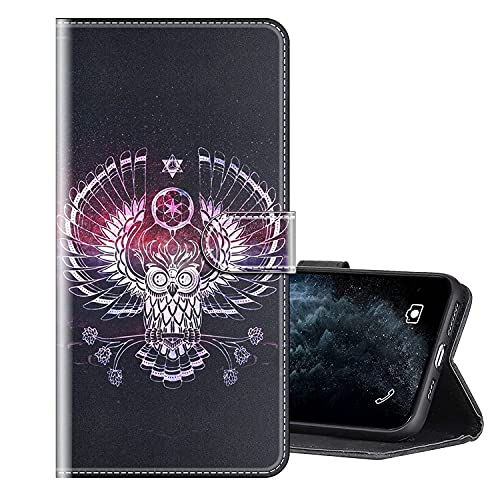 Sinyunron Handy Schutzhülle Kompatibel mit LEAGOO T5C Hülle Handy Tasche Hülle Handyhülle Lederhülle mit Kartenfächer,Ständer,Magnetverschluss,Hülle08C
