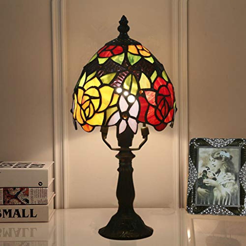 GJH-DFN Europische Schlafzimmer Nachttisch Farbe Glastisch Lampe Bar Cafe Western Restaurant Dekoration Lampe