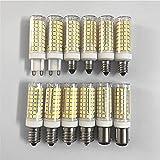 LKJYBG Bombilla LED de maíz de 100 W equivalente, 102 bombillas LED de cerámica, muy brillante, intensidad regulable, para...