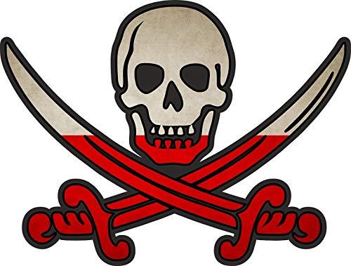 Akachafactory sticker piraat piraten Jack Rackham Calico vlag vlag MC Monaco