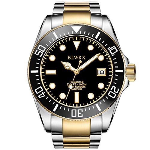 BLWRX 43mm Men's Diver Japanese Automatic Professional Diver Extension Buckle 1000m Stainless Steel Watch