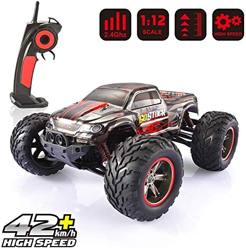 GoStock Remote Control Car, 1:12 Scale RC Car Off Road Electric Vehicle 2.4G High Speed of 42km / h All Terrain Remote Control Monster Truck for Kids and Adult
