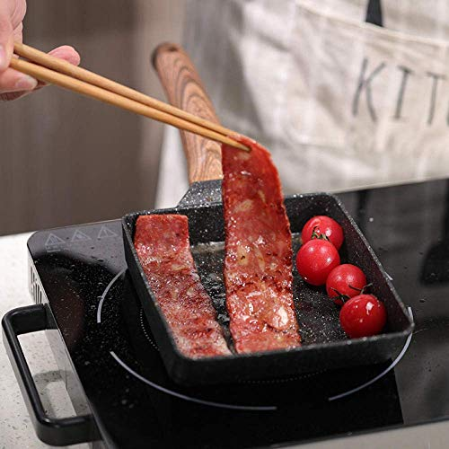 Ybzx Poêle à Frire de Style Japonais, Mini poêle antiadhésive, Omelette pour Le Petit déjeuner, poêle carrée, Petite poêle à Frire-Wave Section