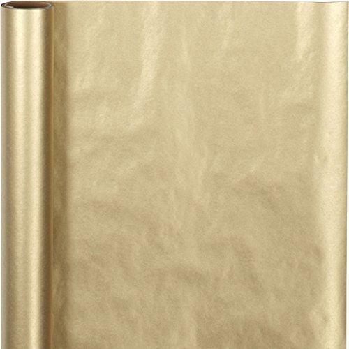 Creativ Company Papier cadeau, l: 50 cm, or, 5 m