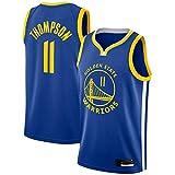 Uniformes De Baloncesto De Los Hombres, Golden State Warriors # 11 Klay Thompsonn Camisetas De Ventilador De La NBA Verano Chaleco Casual Tops Camisetas Sin Mangas,Azul,M(170~175CM)