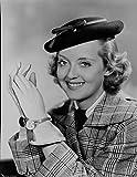 Celebrity Photos Bette Davis Portrait Smiling in Black Flat