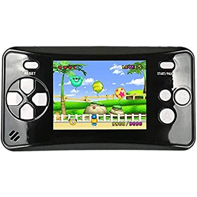 """HigoKids Portable Handheld Games for Kids 2.5"""" LCD Screen Game Console TV Output Arcade Gaming Player System Built in 182 Classic Retro Video Games Birthday for Your Boys Girls-BYO-CA by HigoKids"""