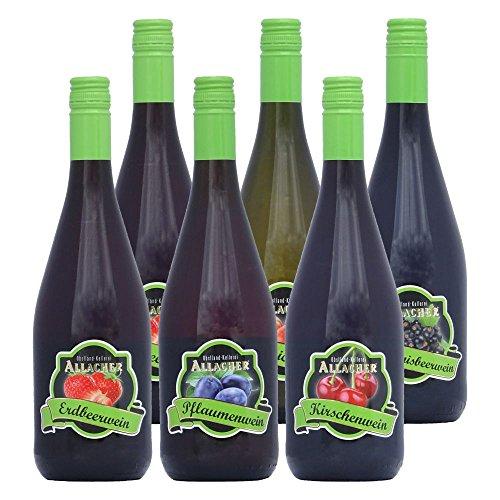 Allacher Fruchtwein-Kennenlernpaket, Premiumqualität aus Österreich, 8,5% vol, (6 x 0,75 l)