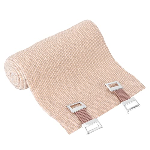 Rollos de envoltura de venda elástica, envoltura de venda elástica para deportes, venda de compresión adhesiva, flexible y transpirable con cierre, aprox. 10 cm / 3,9 pulgadas