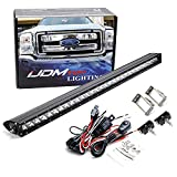 iJDMTOY Upper Grille Mount 30-Inch LED Light Bar Kit Compatible With 2011-2016 Ford F250 F350 Super Duty, Includes (1) 150W High Power CREE LED Lightbar, Grill Mounting Brackets & On/Off Switch Wiring