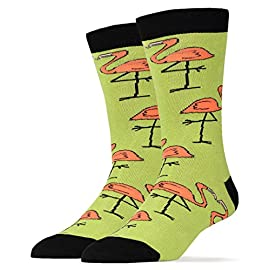 Men's Novelty Crew Socks, Bob Ross Funny Fun Crazy Silly Socks, Cool Casual Dress Socks 13 COMBED COTTON. Men's sock size 10-13. men's Shoe Size 6 to 12 ,One size fits most men. BOLD & BRIGHT - Welcome to the year of the pattern. Whether you prefer to wear them on shirts, pants, or blazers, bold patterns are taking the world by storm. Socks aren't immune from the pattern fever, and for good reason- colorful socks add a unique punch to any outfit, from dressy suits to casual jeans. QUALITY CONSTRUCTION - They are constructed to look good and built to last. The high quality construction gives these socks extra durability and flexibility during wear. For you, this means a pair of socks great for all day wear, no matter what you're up to. Standing on your feet working, formal events, even lounging around the house, Socks are great for any occasion