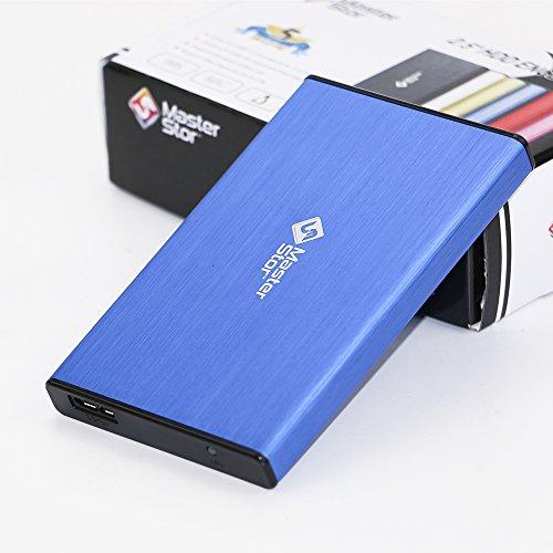 MasterStor pour MAC, MAC Book et Windows Portable disque dur Bleu USB 3.0 disque dur ultra rapide disque dur externe lecteur portable garantie de 2 ans bleu (250GB)