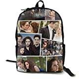 The Twilight Saga Fun Schoolbag Multifunction Backpack Travel Backpack Knapsack Rucksack Satchel Travel Bag For Unisex