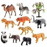 Flushzing 8pcs Forêt Vie Sauvage Lifelike Figure Toy Set de forêt Silicone Creatures éducation Modèle Kit Cadeau de Vacances