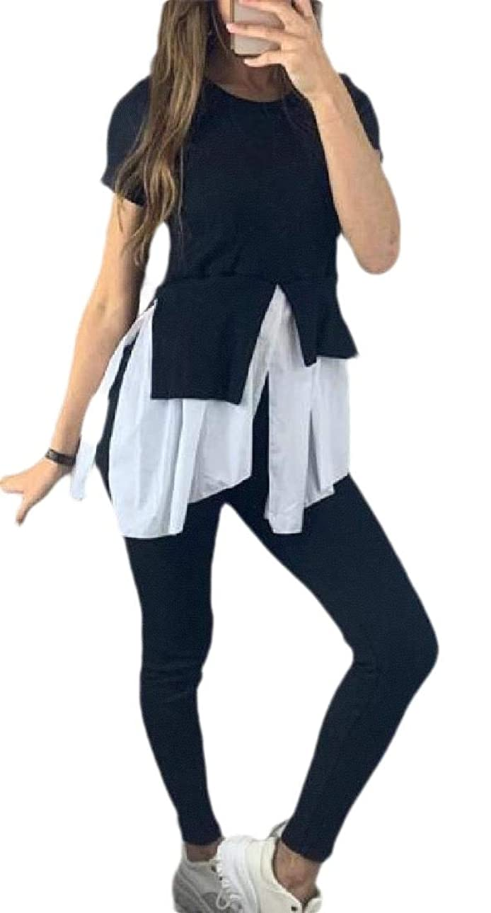 フェデレーション普通に偏心女性2ピース衣装フリルロングスリーブプルオーバーロングパンツトラックスーツ