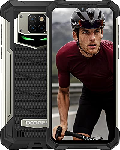 DOOGEE S88 Plus (2021) 10000mAh Smartphone Robusto, 4G Cellulare 8GB + 128GB, Fotocamera 48MP + 16MP, Helio P70 6.3 FHD Smartphone Android 10.0, IP68   IP69K Impermeabile, NFC Wireless Charge, Nero