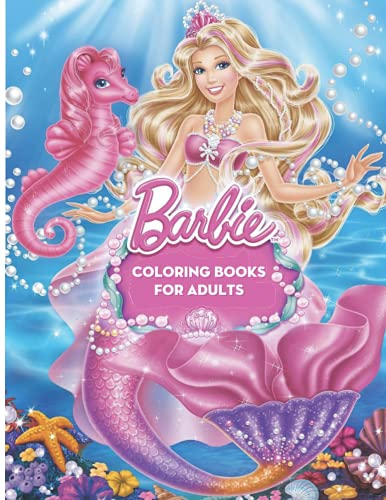 Barbie Coloring Books: Amazing Barbie Drawings for Adults, With Exclusive Images, Awesome Adorable Gift With High Quality Coloring Pages