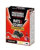 Caussade CARSBL180 Anti-nuisibles Rats & Souris Efficacité Radicale - 6 Blocs pour Garage et Cave | Lieux Humides
