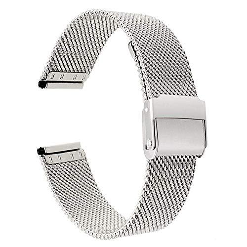 Armband Armband 13mm 14mm 16mm 17mm 18mm 19mm 20mm 22mm Edelstahl Uhrenarmband Armband Armband ## 11 (Farbe: Silber, Größe: 13mm)