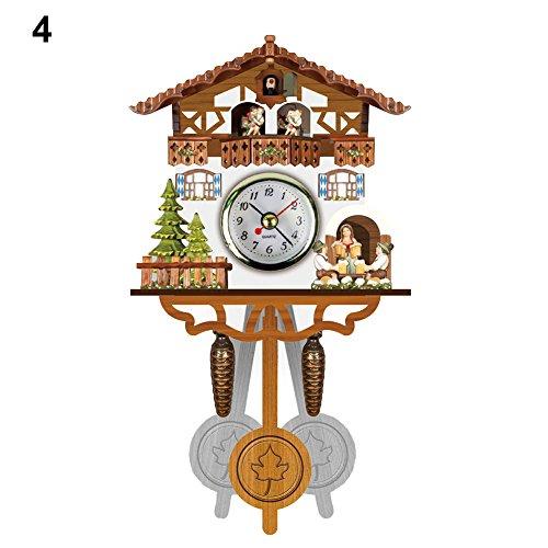 XMBT Relojes domésticos Decorativos de la Sala de Estar de la Pared de la Vendimia,Reloj de Pared Moderno Reloj Despertador Digital Pantalla hogar Cocina,Size:129x231x55mm