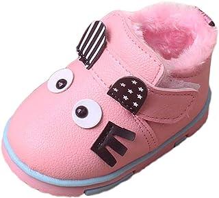 Botas Bebé Unisex de Nieve de Niñas Niños Más Terciopelo de PU de Gatito Dibujos Animados Lindo Zapatos de Bebé Botines Calentar Acogedor Botines Infantiles Primeros Pasos Zapatos
