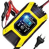 AOKBON Autobatterie Ladegerät 7A 12V Vollautomatisches Intelligentes Schnelle Ladegeräte mit LCD...