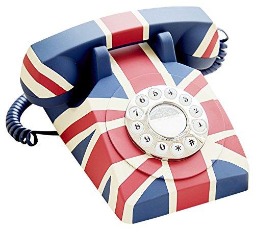 GPO Vintage Union Flag British Art-Deco Push Button Telephone