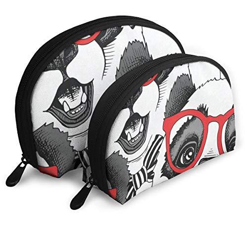 Trousse À Maquillage Dessiné À La Main Mignon Pende Eyesglass Portable Shell Organisateur De Toilette pour Les Femmes Thanksgiving Day Gift Pack - 2