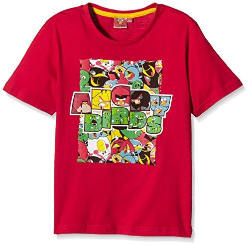 Rovio Angry Bird T-Shirt, Red (Amarante), 4 Anni Bambino