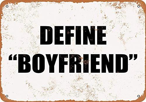 Kia Haop Define Boyfriend Metall Blechschild Garage Cafe Garten Wohnzimmer Küche Plaque Art Poster Metallschild Wand Dekoration