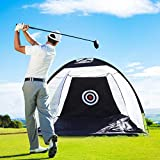 LUVODI Golf Practice Hitting Net for Garden, 3M Foldable Portable Indoor Outdoor Golf Chipping Net Backyard Exercise Equipment Driving Nets with Carry Bag and Target (Black)