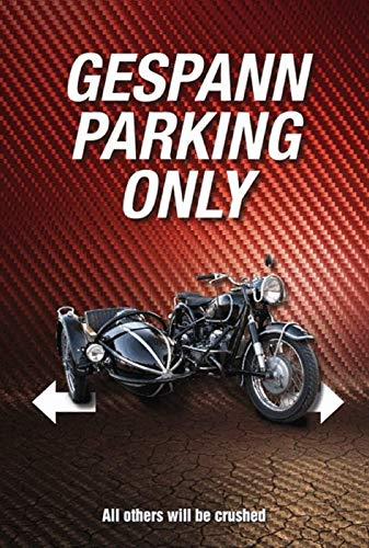 Parking Only Motorrad Gespann Bike Blechschild Metallschild Schild gewölbt Metal Tin Sign 20 x 30 cm