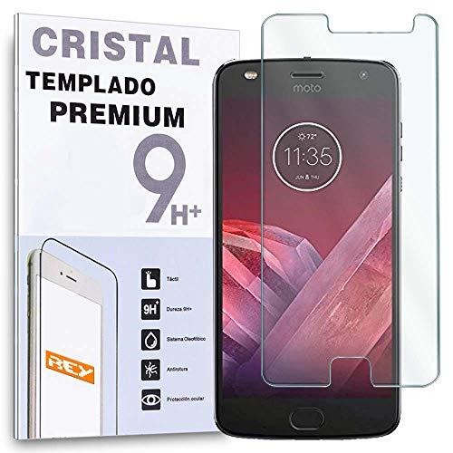 REY Protector de Pantalla para Motorola Moto Z2 Play, Cristal Vidrio Templado Premium