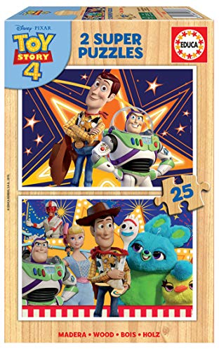 Educa Toy Story 4 2 Puzzles de 25 Piezas, multicolor (18083)