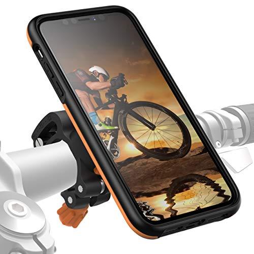 Morpheus M4s iPhone 11 Pro Fahrradhalterung - Handyhalterung Fahrrad iPhone 11 Pro - Halterung & iPhone 11 Pro Hülle magnetisch fürs Rad, DropTest, mit Quick Lock, Bike Kit orange