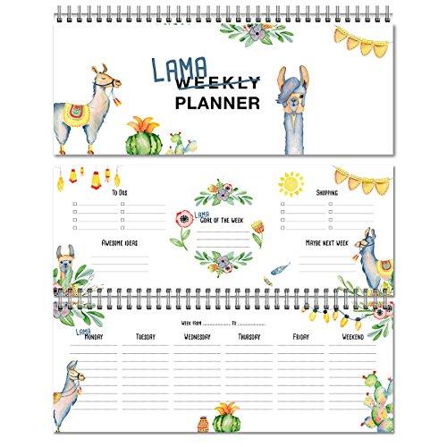 Agenda settimanale Lama / agenda senza data / calendario da tavolo / agenda 2019 / formato orizzontale / weekly planner per appuntamenti / agenda perpetua con lama / agenda 60 settimane / in inglese