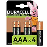 Duracell - Rechargeable AAA 900mAh Prericaricate, Batterie Ministilo Ricaricabili 900 mAh,...