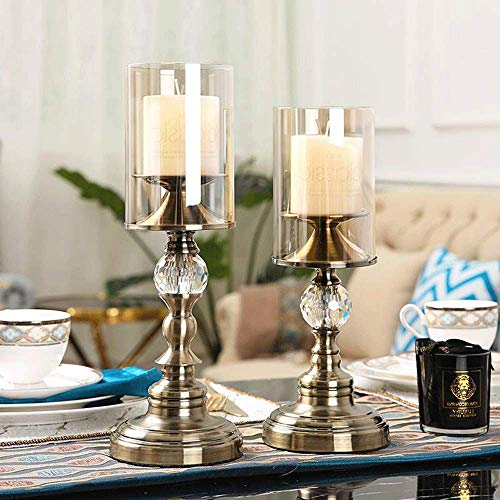 niumanery Clear Holder Candlestick Party Wedding Decoration Glass Candle Light