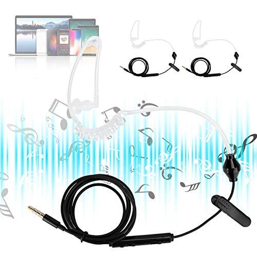 Mxzzand 3 Sets Air Tube Gaming Auriculares con cable para entrenamiento para...