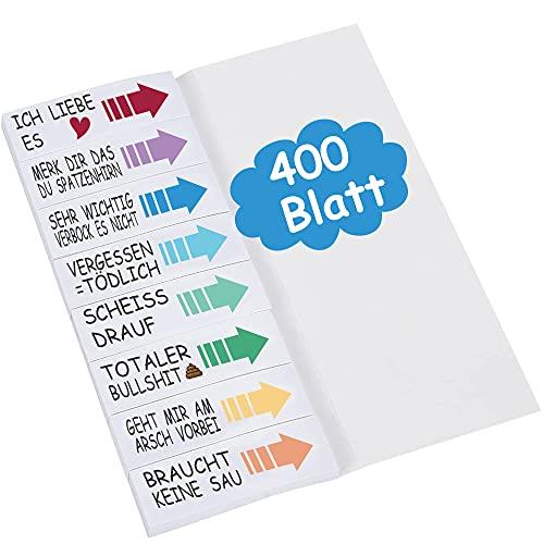 Lustige haftnotizen sprüche für schüler studenten Lehrer büro NOCHME 400 Blatt klein klebezettel sticky note page maker haftnotizen für Büro Schule Gadgets zum Markieren, Lustig Geschenke