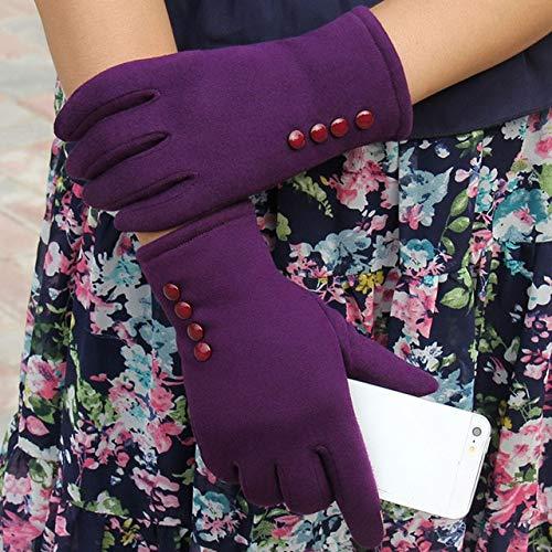 IMmps Warme Handschuhe des Winters der Art und Weisetouch Screen Frauen im Freien warme Handschuhe des Winters der Frauen-T3847Purple