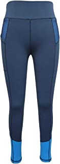 HR Farm Women's Silicone Tights Horse Riding Gel Grip Pull On Leggings with Pocket
