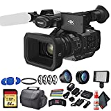 Panasonic HC-X1 Ultra HD 4K Professional Camcorder (HC-X1) with UV Filter, Close Up Diopters, Wide Angle Lens,Tripod, Padded Case, LED Light, 64GB Memory Card and More Advanced Bundle