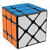 D-FantiX Yongjun Yileng Cube YJ Fisher Cube 3x3 Speed Cube Puzzle Black