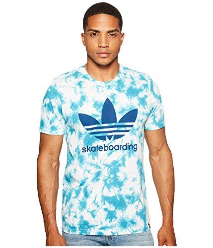 adidas Originals Men's Tops Skateboarding Graphic Tee, Energy Blue/Crystal. , Small