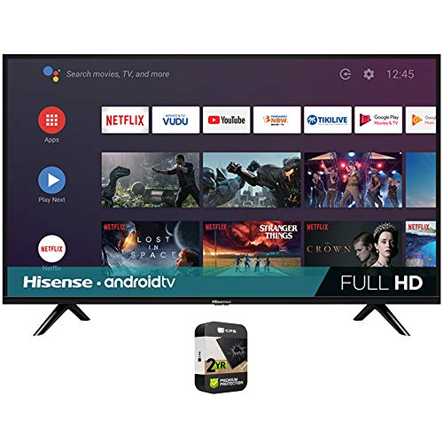 Hisense 43H5500G 43 Inch H55 Series FHD Full HD Smart Android TV with DTS Studio Sound Bundle with Premium 2 Year Extended Protection Plan