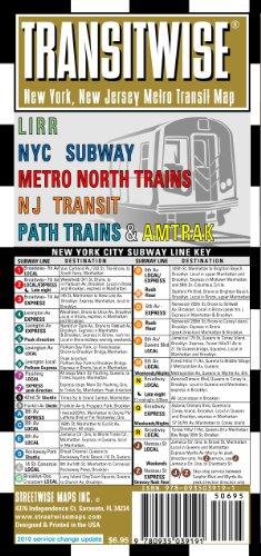Transitwise New York New Jersey Transit Map-LIRR, NYC Subway, Metro North Trains, Amtrak: Folding Pocket Size Travel Map (Streetwise (Streetwise Maps))