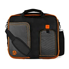 Composed of high quality durable nylon, yet it's soft to the touch Luggage strap and included shoulder strap make traveling a breeze Extra padded compartments made for added protection Padded hide-away handles makes carrying in hand comfortable and c...