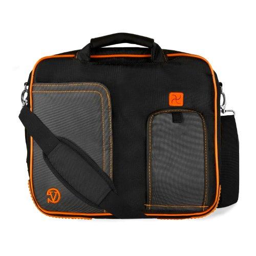 Barnes and Noble NOOK HD Plus 9 Carrying Shoulder Messenger Bag BLACK and ORANGE LightWeight Protective Case